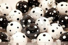 Black and white christmas ornament by Maria Isabel Villamonte, via Dreamstime