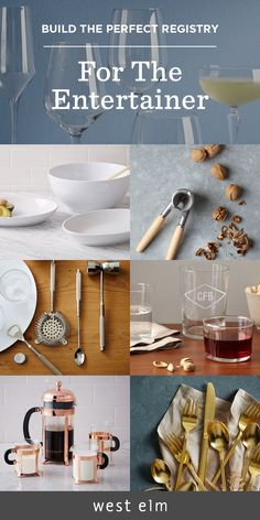 Plan for celebrations way past the big day. From gold flatware and sturdy bar tools to monogrammed glassware and versatile serving sets, these items are must-haves for any registry!