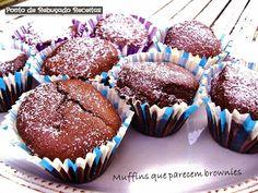 Ponto de Rebuçado Receitas: Muffins que parecem Brownies
