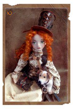 Esther, steampunk fille, poupée de collection, decoration maison, cadeau unique, poupee d'art : Autres art par yuyu-arts