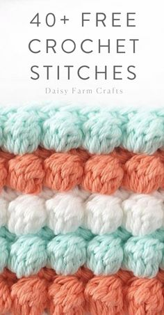 40+ Free Crochet Stitches from Daisy Farm Crafts Crochet Yarn, Crochet Stitches Free, Different Crochet Stitches, Crochet Basics, Crochet Stitches Patterns, Crochet Gifts, Crochet Hooks, Crochet Designs, Knitting Stitches