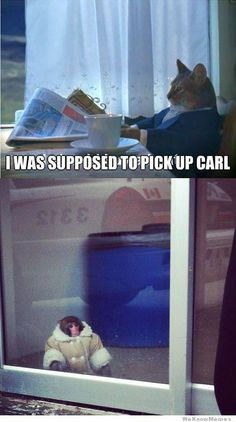I was supposed to pick up Carl!