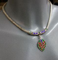 Vintage Halsschmuck - Silber 925 Glas Schlangenkette Halskette SK500 - ein Designerstück von Atelier-Regina bei DaWanda