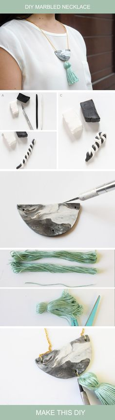 The combination of Clay and tassel is deadly, check out this tutorial to know how to make your own