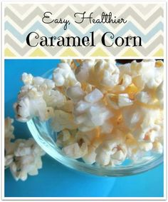 Easy, healthier caramel corn. One of my new favorite popcorn recipes! Only 4 ingredients: coconut oil, honey, vanilla, and salt!
