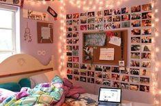 Diy bedroom picture wall