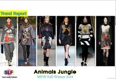 Animal Jungle#Fashion Trend for Fall Winter 2014 #Fall2014 #FW2014 #Trends #MFW