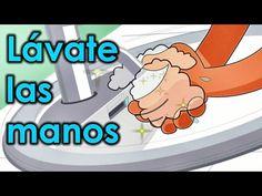 """Canciones divertidas para niños, """"Lávate las manos"""" - Videos infantiles educativos - YouTube"""
