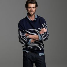 Jean Paul Gaultier sailor style J. Crew sweater