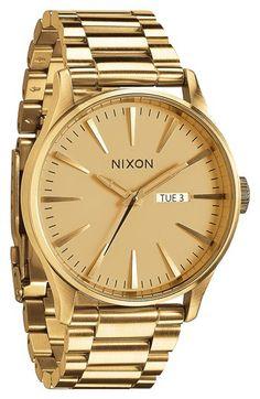 Nixon 'Sentry' Bracelet Watch, 42mm available at #Nordstrom #WestfieldSC