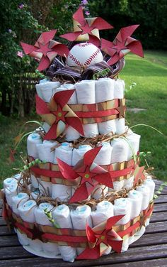 Something From Cassie: diaper cake