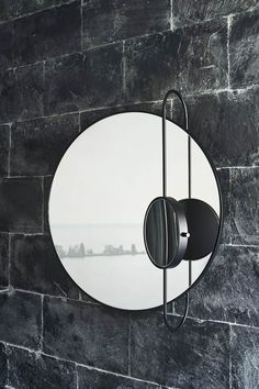 The Revolving Moon is a round wall mounted mirror with magnifier mounted on metal bar, adjustable in different positions. The mirror is inspired by the movements of the moon phases. Wall Mounted Mirror, Round Wall Mirror, Round Mirrors, Studio Pepe, Moon Mirror, Magnifying Mirror, Vanity Design, Bathroom Goals, Metal Bar