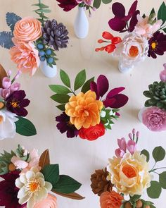Wax Flowers, Paper Flowers Diy, Felt Flowers, Pretty Flowers, Diy And Crafts, Paper Crafts, Happy October, Paper Magic, Handmade Decorations