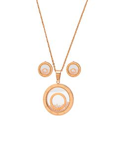 Rose Gold Roman Numeral Pendant Necklace & Stud Earrings   zulily