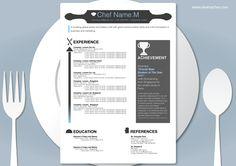 Resume Design for a Chef – Alveria Cher  Finally, a resume for me!