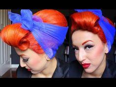Vintage Pinup Hair Tutorial Beehive Bouffant - by PinupDollAshleyMarie Pin Up Vintage, Easy 50s Hairstyles, Vintage Hairstyles, Bouffant Hairstyles, Cabelo Pin Up, Beehive Hair, Rockabilly Hair, Retro Hair, Beauty Hacks