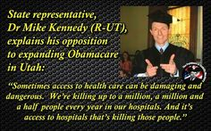 Unbelievable! Dumb Dr. MIKE KENNEDY thinks access to health care and hospitals is killing people!