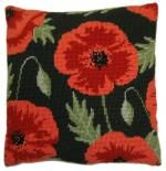 Country Garden Flowers Herb Pillow - Wild Poppy