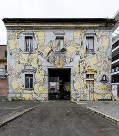 StreetArt Roma: Senza Titolo   Blu   2012   Zona: Ostiense   #art #streetart #roma