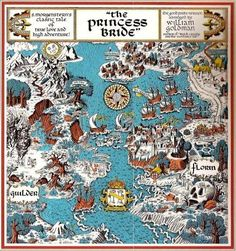 The Princess Bride Map of Florin and Guilder by William Goldman Batman Comics, Dc Comics, Robert Louis Stevenson, Dark Souls, The Princess Bride Book, Princess Bride Tattoo, True Love, My Love, Fantasy Map