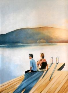 Sittin' on the dock of the bay 135/100cm Oil on canvas