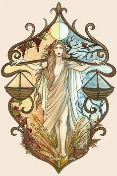 AstroSpirit / Libra ♎ / Air / Justice / Autumn Equinox - by UnripeHamadryad