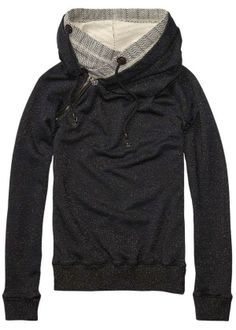 Home Alone Sweater With Double Layer Hood > Womens Clothing > Sweaters at Maison Scotch - Scotch & Soda Online Fashion & Apparel Shop Looks Style, Style Me, Pullover Mode, Sport Outfit, North Face Hoodie, Comfy Hoodies, Sweatshirts, Mode Outfits, Mode Style
