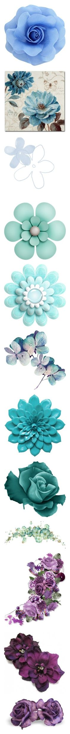 """Flowers&Leafs"" by kinakollect on Polyvore featuring jewelry, brooches, hair, rose brooch, flower broach, rose jewelry, light blue jewelry, pin jewelry, home と home decor"
