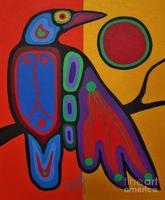 Raven by Jim Oskineegish(Ojibwe,Eabametoong)