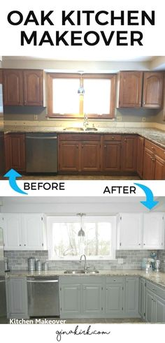 DIY Kitchen Makeover Ideas - Oak Kitchen Makeover - Cheap Projects Projects You . DIY Kitchen Makeover Ideas - Oak Kitchen Makeover - Cheap Projects Projects You Can Make On A Budget - Cabinets, Counter. Kitchen Decorating, Interior Decorating, Budget Decorating, Decorating Websites, Cheap Kitchen Makeover, Oak Cabinet Makeover Kitchen, Countertop Makeover, Kitchen Facelift, Kitchen Cabinet Remodel
