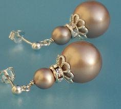 Swarovski Almond Pearl Drop Earrings