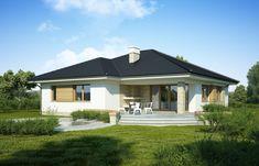 DOM.PL™ - Projekt domu FA Maja CE - DOM GC5-65 - gotowy koszt budowy Home Fashion, House Plans, Garage Doors, Flooring, House Styles, Outdoor Decor, Home Decor, Houses, Projects