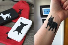 Steadfast Friends have iPhone cases and (awesome!!!) temporary tattoos featuring silhouettes of a ton of dog breeds, from Airedales to Yorkies. And if mutts are your thing? Mixed breeds are represented too. Now you can flash your breed colors while helping to support dog-related charities.