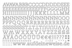 """Alphabet Sticker """"Eva"""" – weiß; Bogen 1 (A-Z)"""