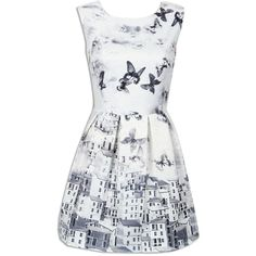Choies White Butterfly Print Embroidery Sleeveless Ruched Dress (335 MXN) ❤ liked on Polyvore featuring dresses, vestidos, multi, monarch butterfly dress, butterfly dress, white color dress, rouched dress and sleeveless dress
