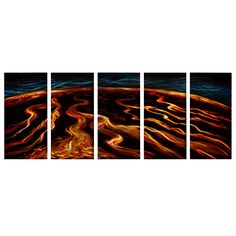'Magma Flow' Wall Decoration | Extra Large Metal Wall Art