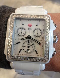 Wear winter white on your wrist with MICHELE…