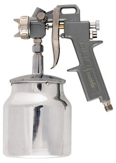 Pistol pneumat. p/u vopsit, rezervor-part. de jos, V=1,0 L, diametru duze 1.2, 1.5 si 1.8 mm MTX