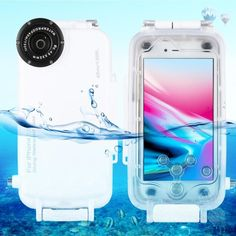 HAWEEL iPhone 8 Diving Case Professional Dive Swimming Underwater Photo Video Waterproof Protective Case Cover for Apple iPhone 7 inch with Lanyard (iPhone White) Underwater Camera Housing, Underwater House, Underwater Photos, Underwater Photography, Snorkeling, Elena Kalis, National Geographic, Photos Sous-marines
