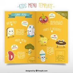 free kids menu templates