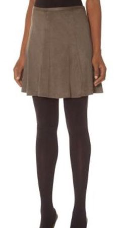 THE LIMITED FAUX SUEDE SKATER SKIRT - DARK GREY - SIZE MEDIUM #TheLimited…