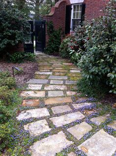 Garden Path Stepping Stone Walkways Flagstone Gravel Paving