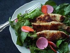 PERDUE® SIMPLY SMART® Breaded Chicken Breast Tenders, Gluten Free make this Asian influenced recipe easy! Swap the soy for tamari and you've got yourself a simple salad with tons of flavor.