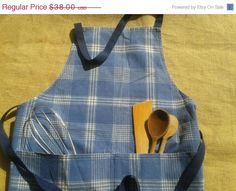40 OFF Rustic Full Kitchen Apron Butcher by SophieLadyDeParis, $22.80