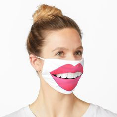 """Sexy Lips - White Teeth - Pink Lipstick - Best gift for her"" Mask by BestStuffDepot Funny Face Mask, Face Masks, Female Lips, Too Faced Lipstick, Elf Face, George Cross, Sandy Cheeks, Lip Mask, Nose Mask"