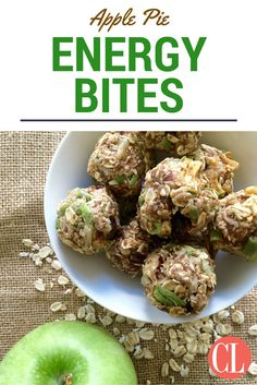 Packed with fresh apples, dried cranberries, nuts, and warm spices, these bite-sized snacks are full of protein and boost your energy to get you through the day. Energy bites are so easy to make at home because there is no cooking involved and you can add any ingredients you like. | Cooking Light