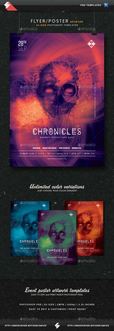 Electronic Music Party Vol  Facebook Post Banner Templates