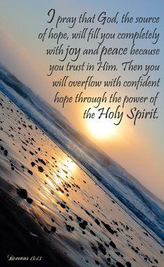 Romans 15:13 hope through the Holy Spirit