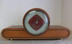 50er Jahre Tischuhr Kaminuhr Buffetuhr antique desk clock | eBay