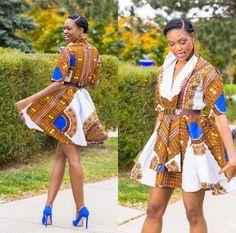 African print Ankara outfit